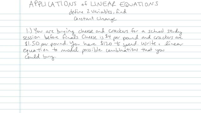 Applications of Linear Equations - Problem 9