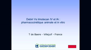 Debiri Vs Irinotecan IV et IA : pharmacocinétique animale