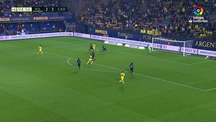 Gol de Danjuma (3-3) en el Villarreal 3-3 Cádiz