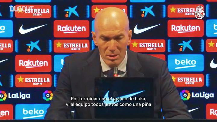 Zidane: 'Hicimos un buen partido'