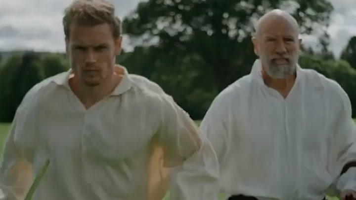 Outlander star Sam Heughan shares sneak peek of Men in Kilts finale