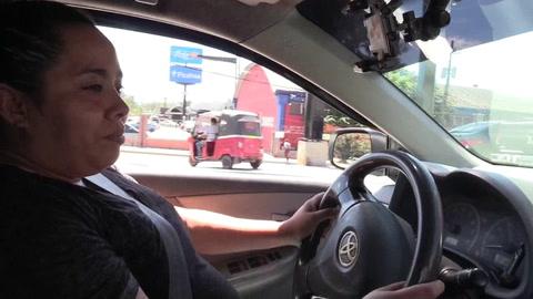 Mujeres taxistas en Honduras, trabajo