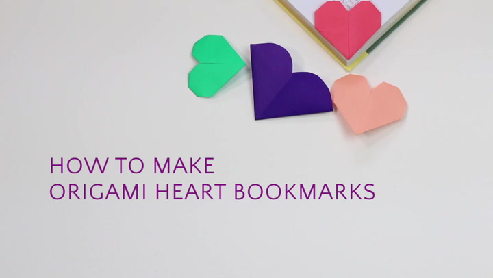 How to Make Origami Heart Love Notes - Step by Step Folding Instructions | 406x720