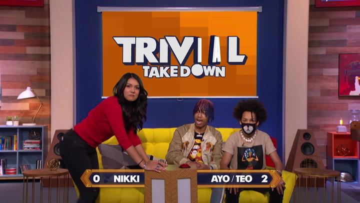 Ayo and Teo and Nikki Limo Take Part in Anaconda Dance Challenge: Trivial Takedown Sneak Peek