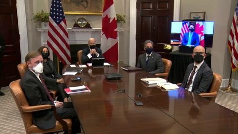 La cita virtual entre Biden y Trudeau resalta extraordinaria amistad entre EEUU-Canadá