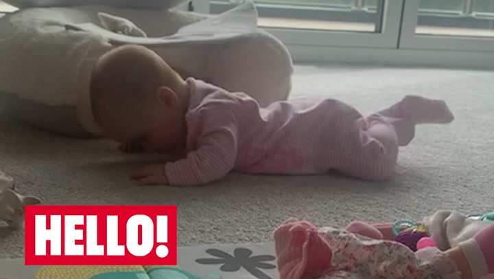 James and Ola Jordan share adorable video of baby Ella learning to crawl