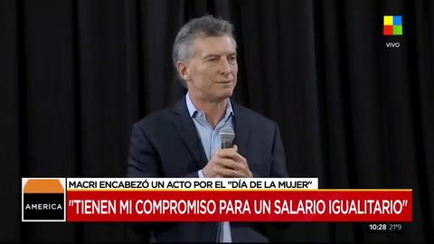 Mauricio Macri encabezó un acto por el día de la mujer