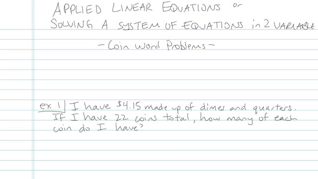 Solving a System of Linear Equations in Two Variables - Problem 13