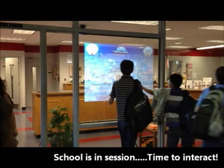 Interactive holographic window at Mayport Coastal Sciences Middle School