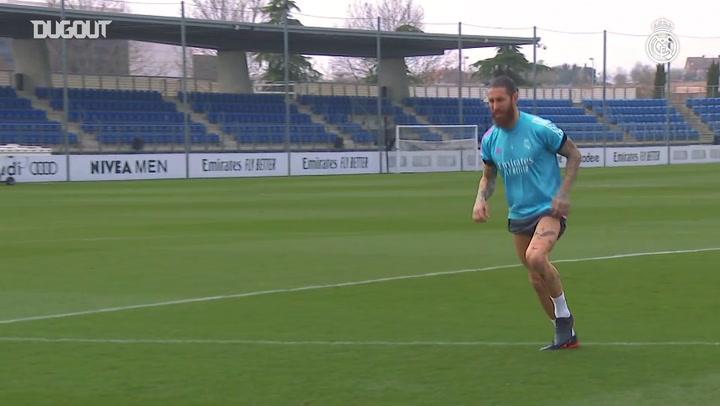 De olho no retorno, Sergio Ramos continua realizando trabalho individual