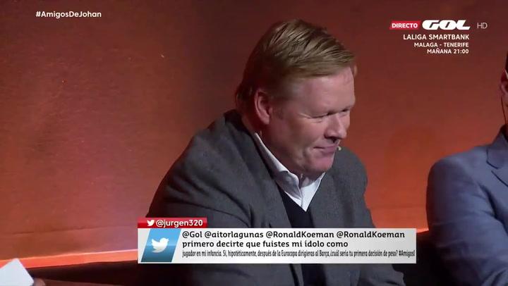 Koeman no cierra la puerta ante la pregunta de si entrenará al Barça