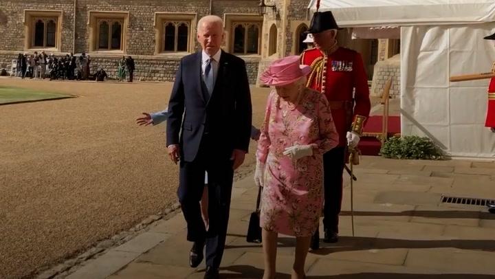 Biden says Queen reminds him of his mother