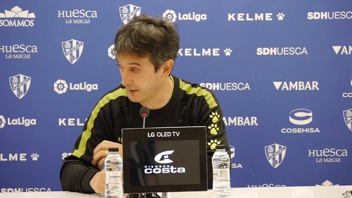 Un ilusionado Pacheta (Huesca) quiere debutar ganando en Getafe