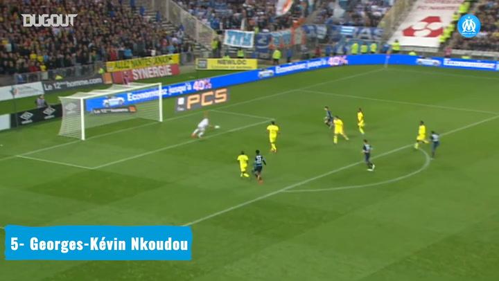 Olympique de Marseille's top five goals vs Nantes