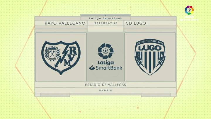 LaLiga SmartBank (J23): Resumen y gol del Rayo Vallecano 1-0 Lugo