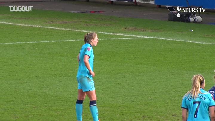 Rianna Dean tucks home penalty vs Brighton and Hove Albion Women