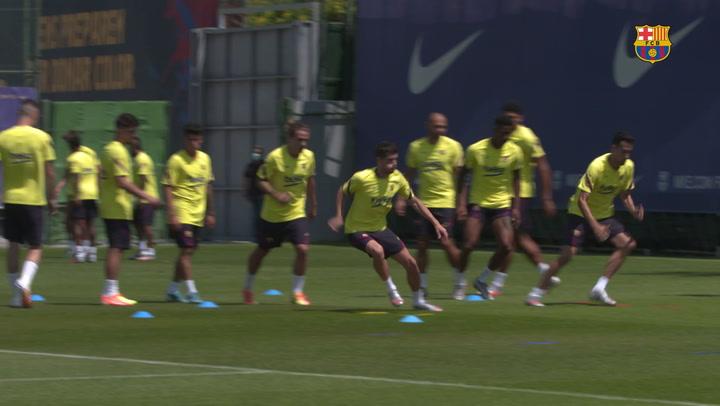 Sesión de recuperación para el Barça tras el empate de Balaídos