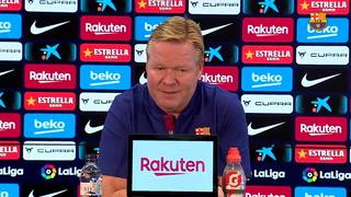 Koeman, tras las declaraciones de Messi: ''No sé si tendré una vida tranquila, no creo''