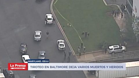 Tiroteo en Baltimore deja varios muertos y heridos