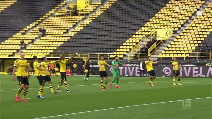El curioso detalle de los jugadores del Dortmund tras finalizar el partido