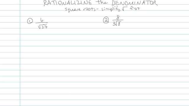 Rationalizing the Denominator with Higher Roots - Problem 6