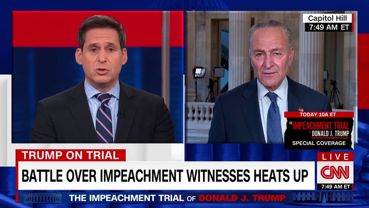 Schumer Rips McConnell Impeachment Resolution -- 'The Double-Talk Is Amazing'
