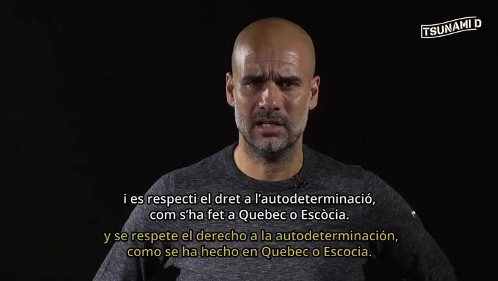 El mensaje de Pep Guardiola, en nombre del Tsunami: