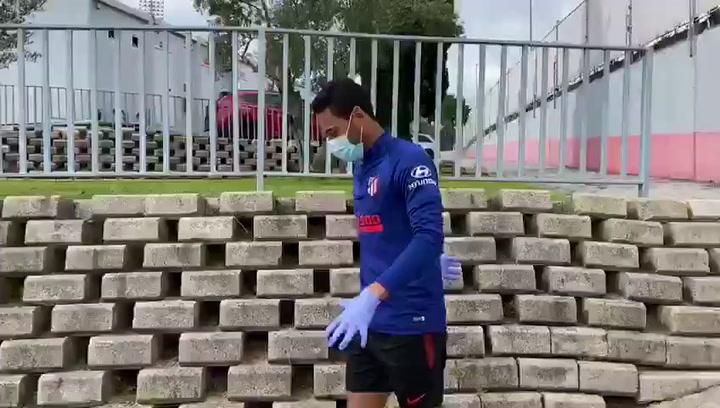 Renan Lodi, uno más en el entrenamiento