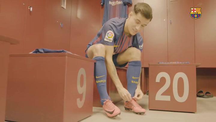 Presentación de Coutinho como jugador del F.C Barcelona