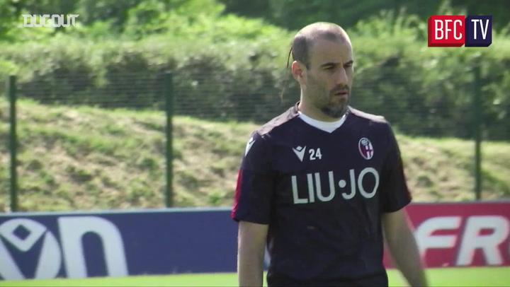 Bologna take part in full training