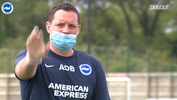 Brighton following safety rules in training