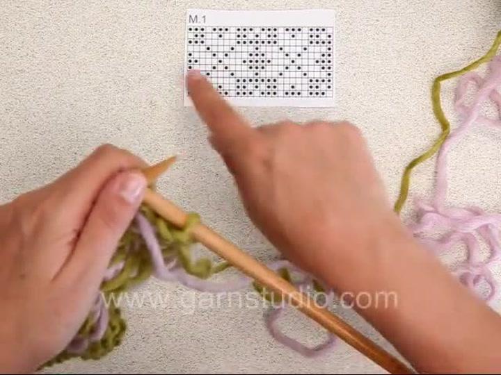 Hvodan strikke Fair Isle med 2 farger - UK/US