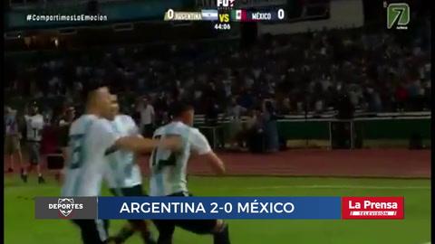 Argentina venció 2-0 a México en partido amistoso