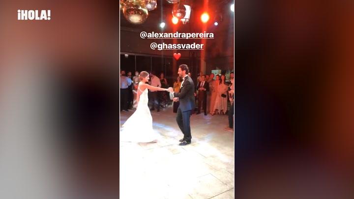 Bailes hasta el amanecer y un cambio de vestido: la divertida fiesta de boda de Alexandra Pereira