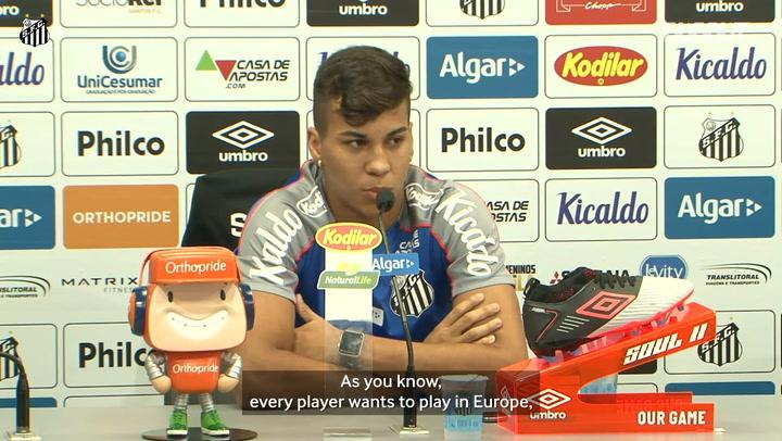 Kaio Jorge discusses Juventus interest