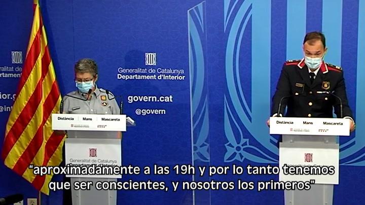 Sanciones a partir de hoy en Cataluña si no se cumple la normativa  del toque de queda a causa del coronavirus
