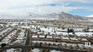 Winter storm blankets west side of Las Vegas Valley