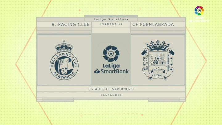 LaLiga SmartBank (J19): Resumen y goles del Racing 2-2 Fuenlabrada