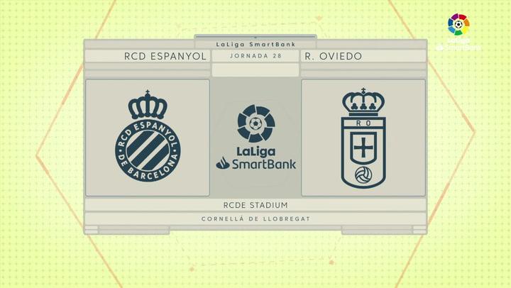 LaLiga SmartBank (J28): Resumen y goles del Espanyol 1-1 Oviedo