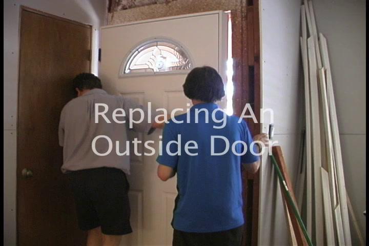 The American Garage- Installing a New  Front Door