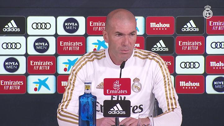 """Zidane: """"El VAR se puede mejorar y tenemos que estar a favor de eso"""""""