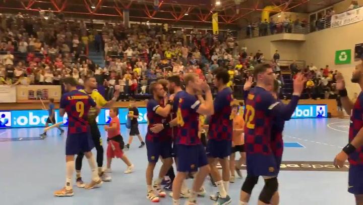 El Barça de balonmano logra una complicada victoria en casa del Bidasoa Irún, vigente subcampeón