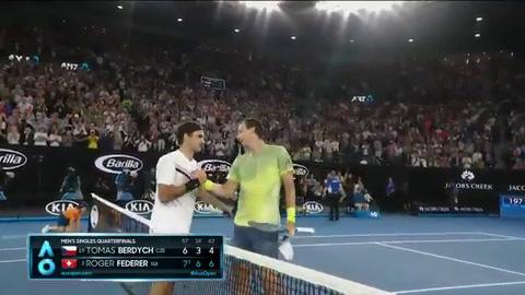Federer venció a Berdych y avanzó a semis en Australia