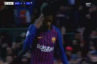 Ousmane Dembélé anota el 1 - 0 del Barcelona ante el Tottenham