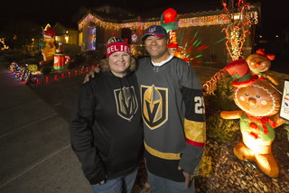 Vegas Golden Knights Christmas Display