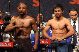 Mayweather vs Pacquiao, the weight is over.