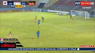 ¡Bonita definición de Luis Palma y Vida está derrotando al Real de Minas en La Ceiba!