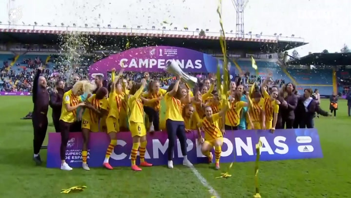Barcelona win the first edition of the Supercopa de España Femenina