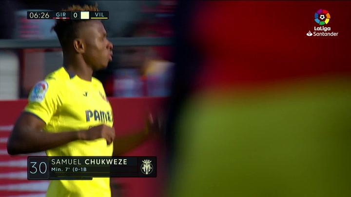 LaLiga: Girona-Villarreal. Gol de Chukwueze (0-1)