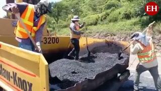 Avances de reparación de la carretera del Canal Seco